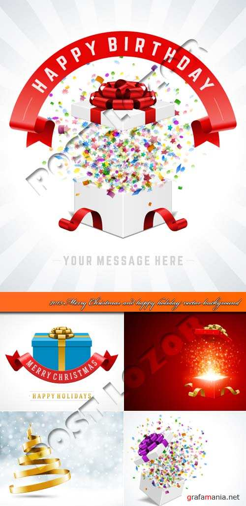 2015 Merry Christmas and happy holiday vector background
