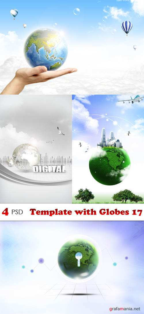 PSD - Template with Globes 17
