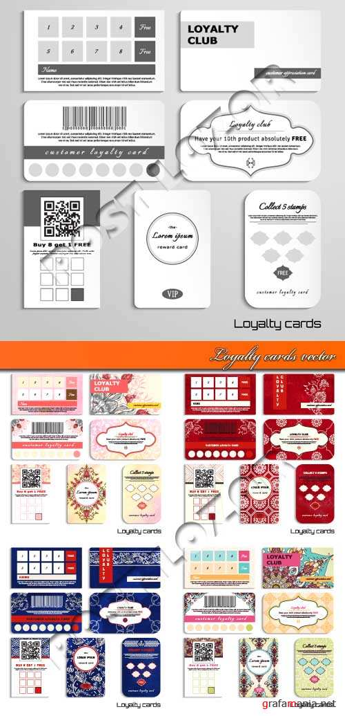 Loyalty cards vector