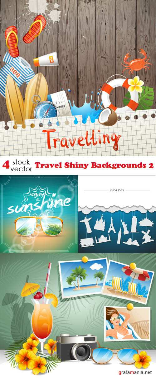Vectors - Travel Shiny Backgrounds 2