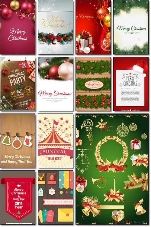 Christmas Greeting Card Vector Graphic, design - Vector