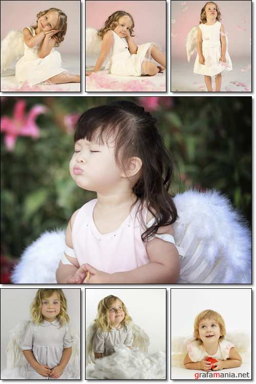 Small, lovely angel - Stock photo
