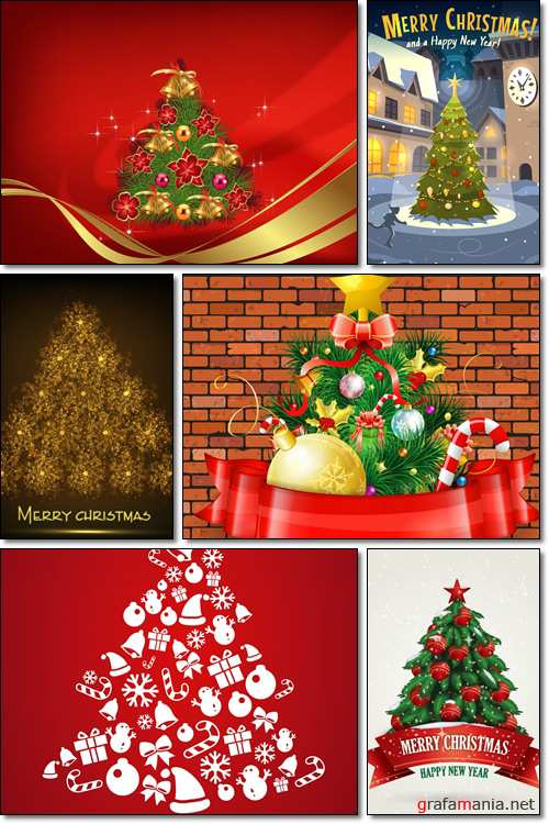 Xmas balls on white background with ribbon, balls, needles street light - Vector