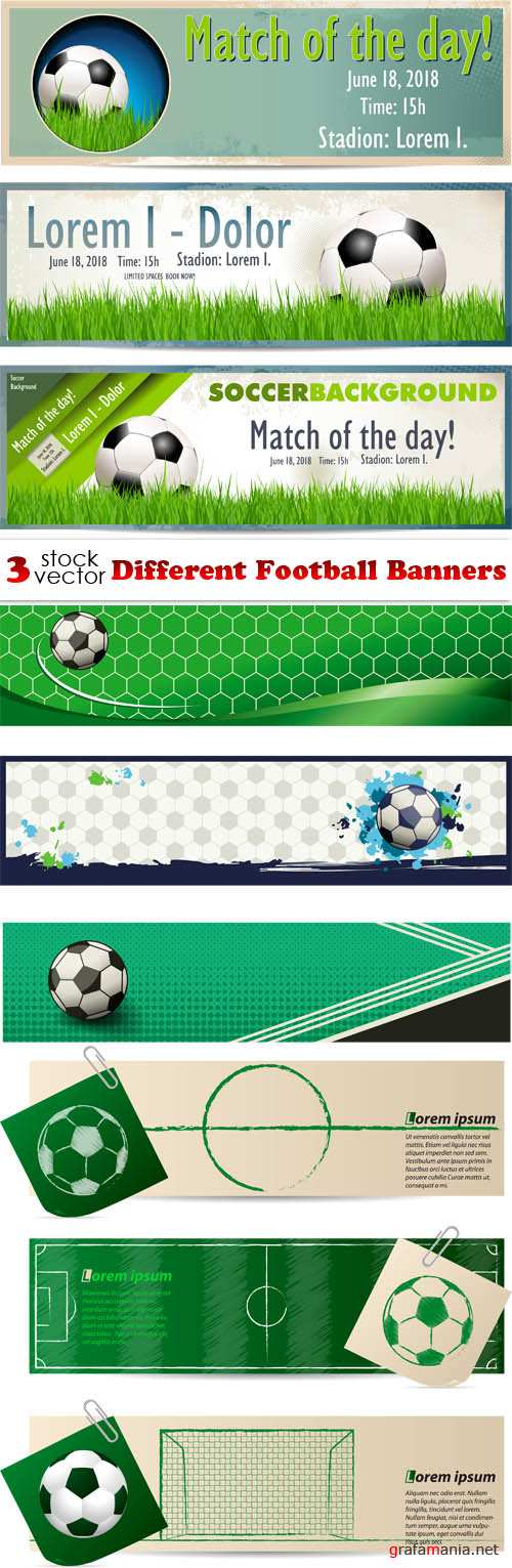 Vectors - Different Football Banners