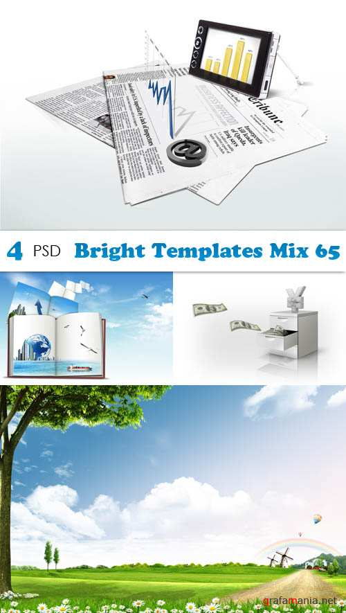 PSD - Bright Templates Mix 65
