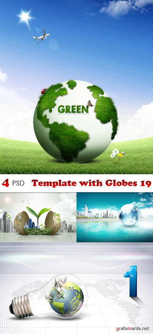 PSD - Template with Globes 19