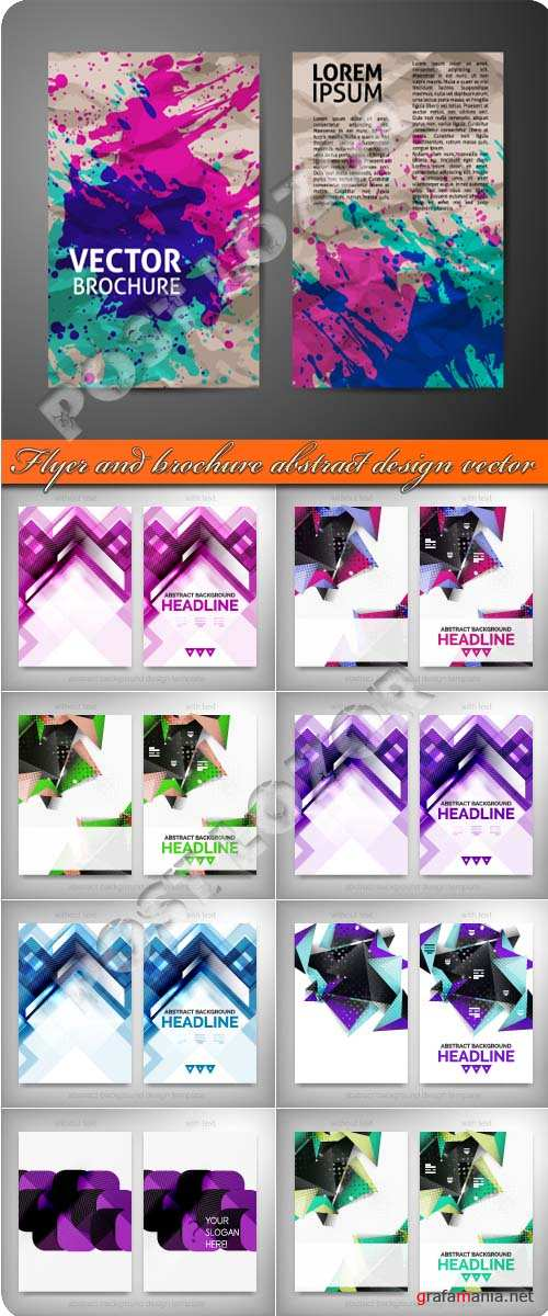 Flyer and brochure abstract design vector