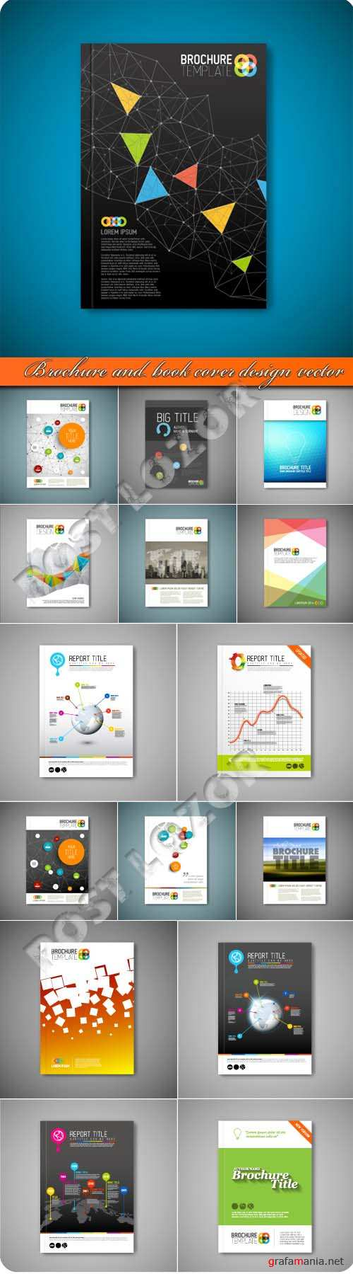 Brochure and book cover design vector