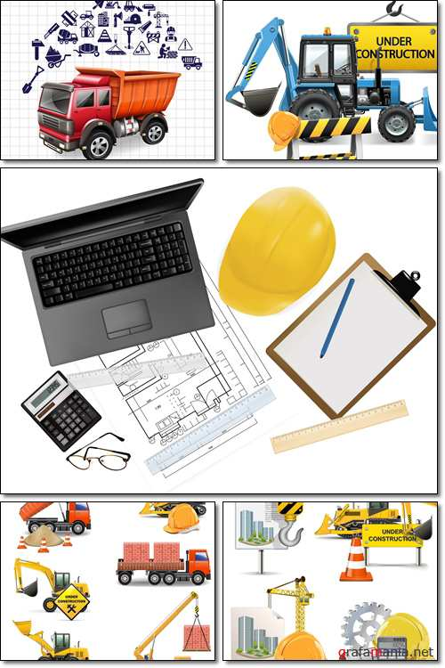 Construction icon set - Vector