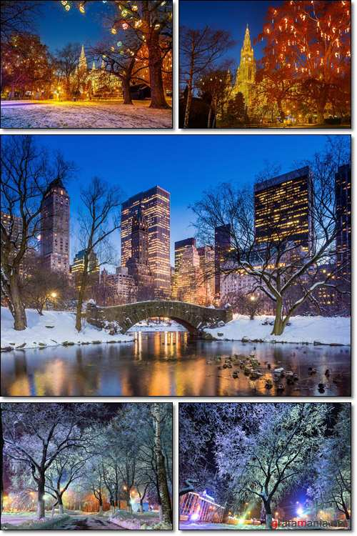 Night in winter- Stock photo