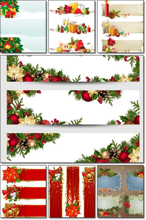 Christmas banners - Vector