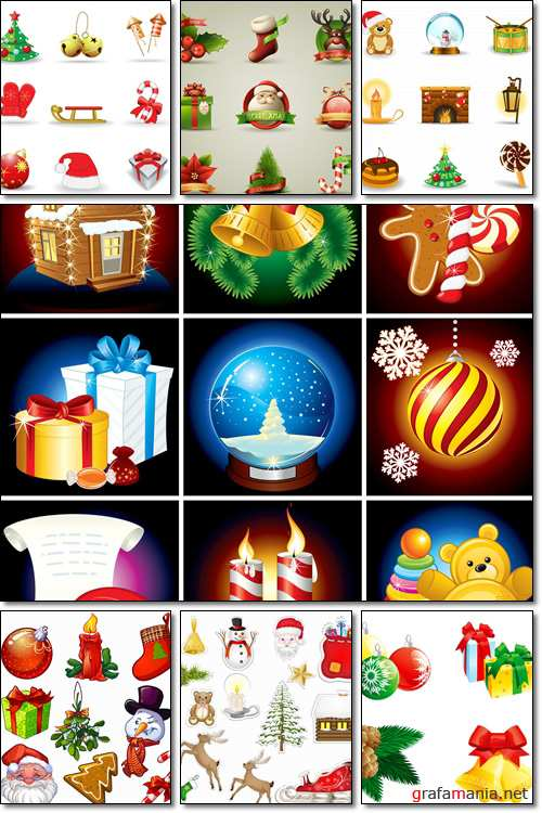Christmas set - Vector