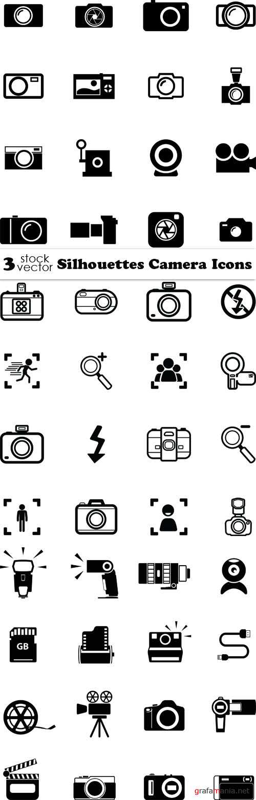 Vectors - Silhouettes Camera Icons