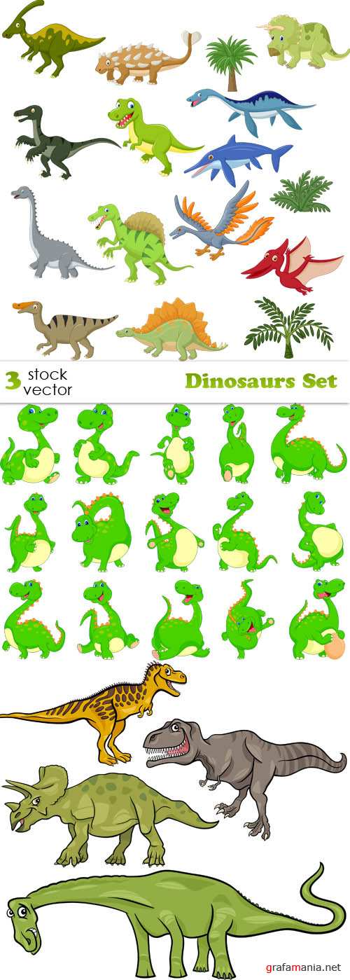 Vectors - Dinosaurs Set