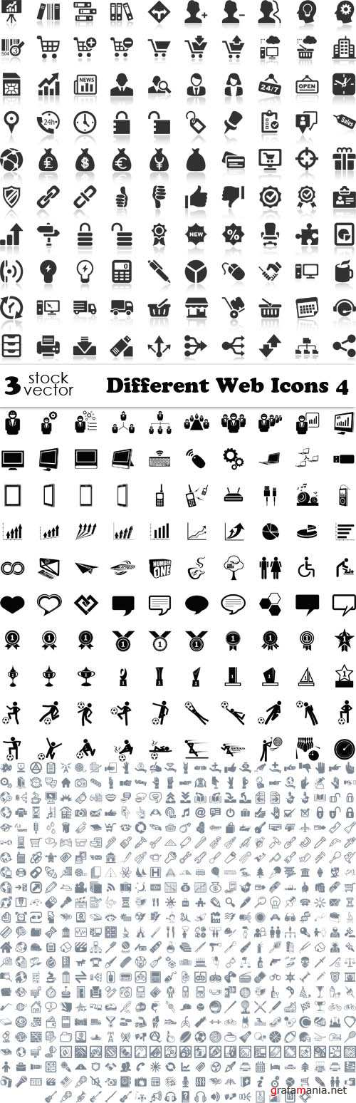 Vectors - Different Web Icons 4