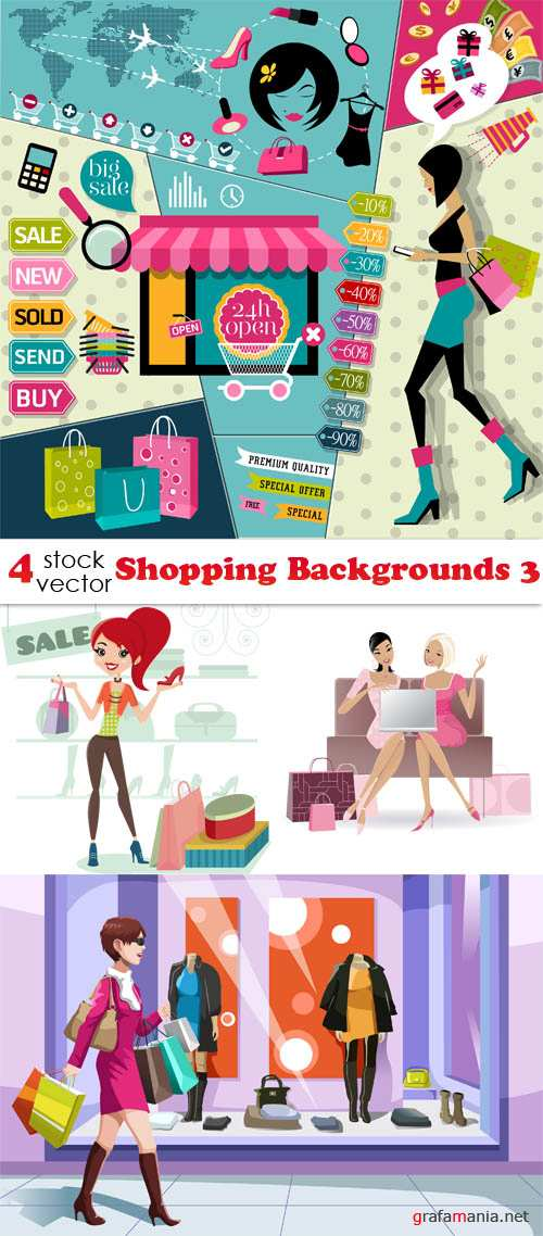 Vectors - Shopping Backgrounds 3