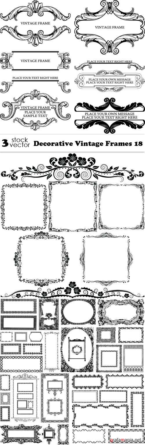 Vectors - Decorative Vintage Frames 18