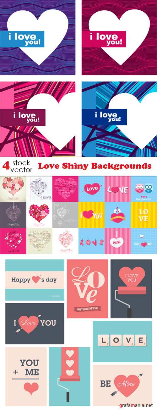 Vectors - Love Shiny Backgrounds