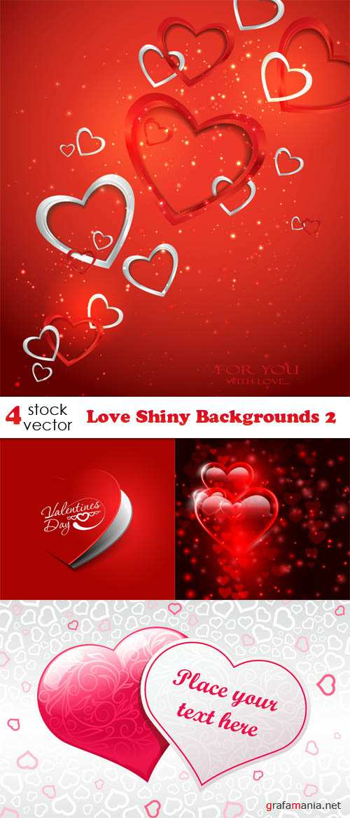 Vectors - Love Shiny Backgrounds 2