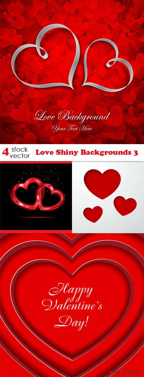 Vectors - Love Shiny Backgrounds 3