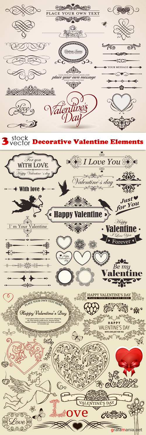 Vectors - Decorative Valentine Elements