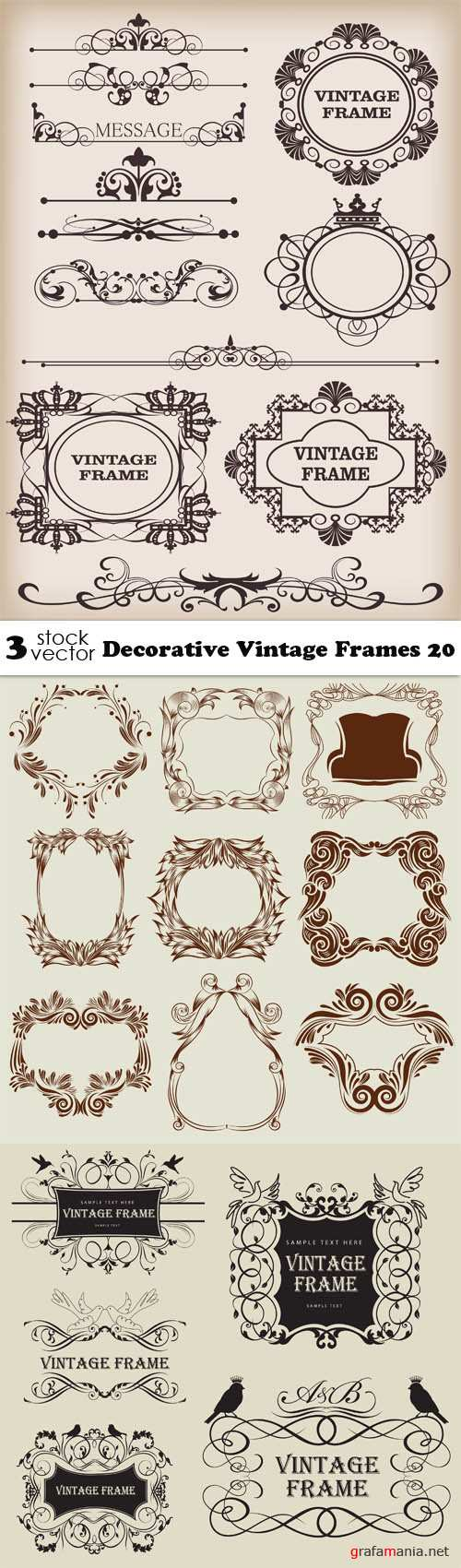 Vectors - Decorative Vintage Frames 20