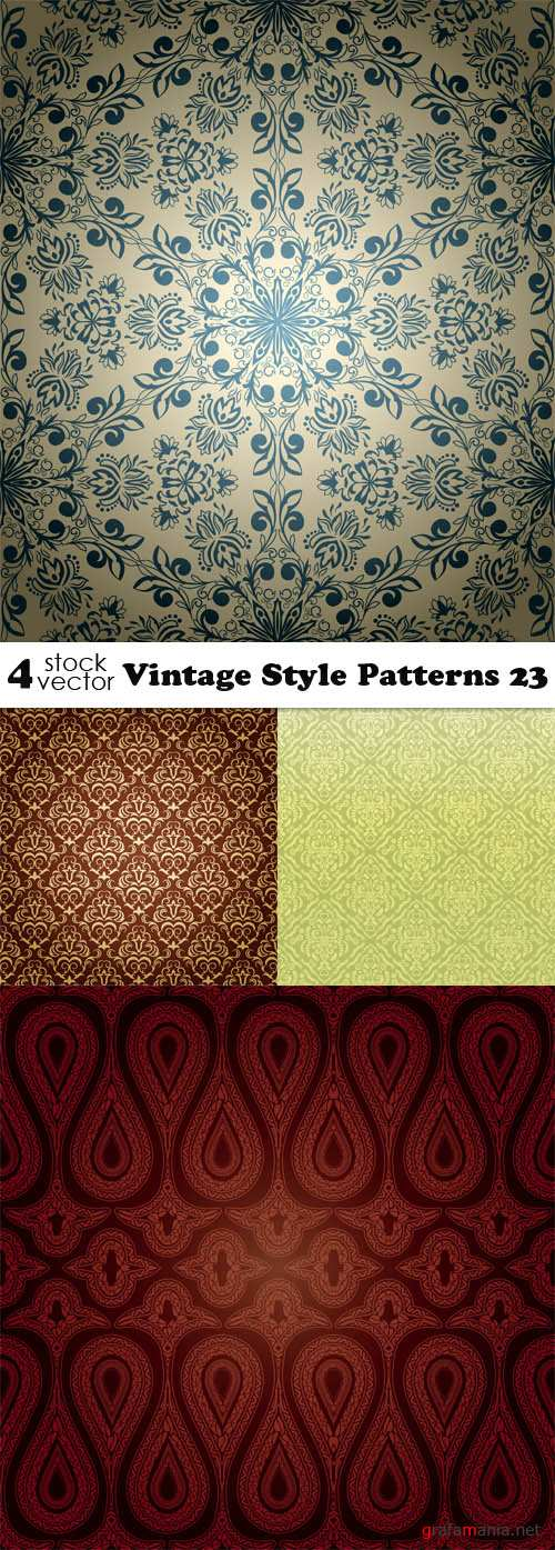 Vectors - Vintage Style Patterns 23