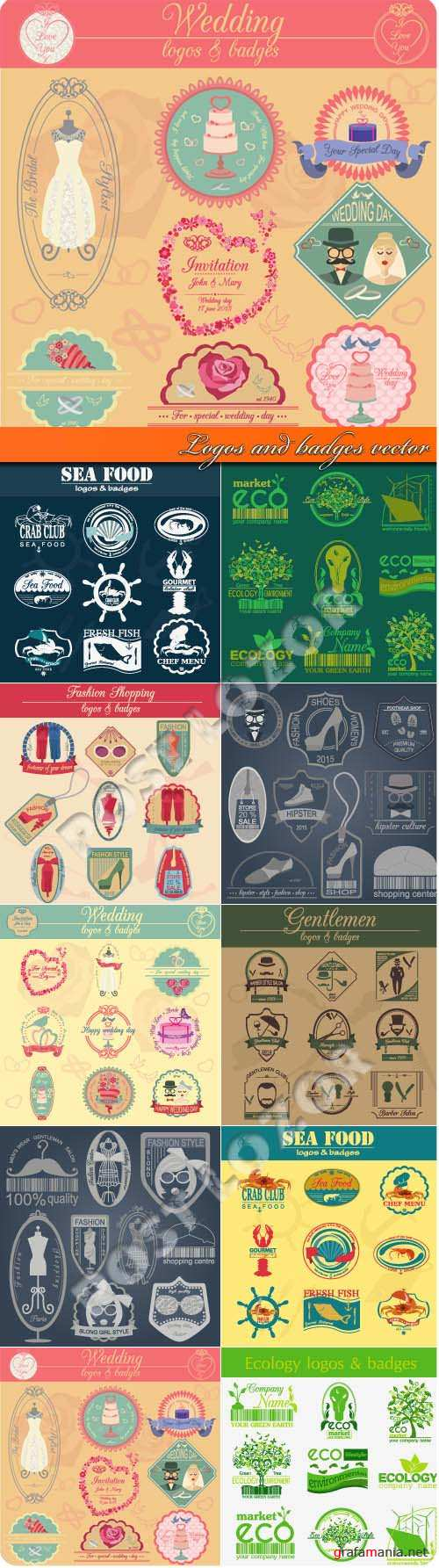 Logos and badges vector