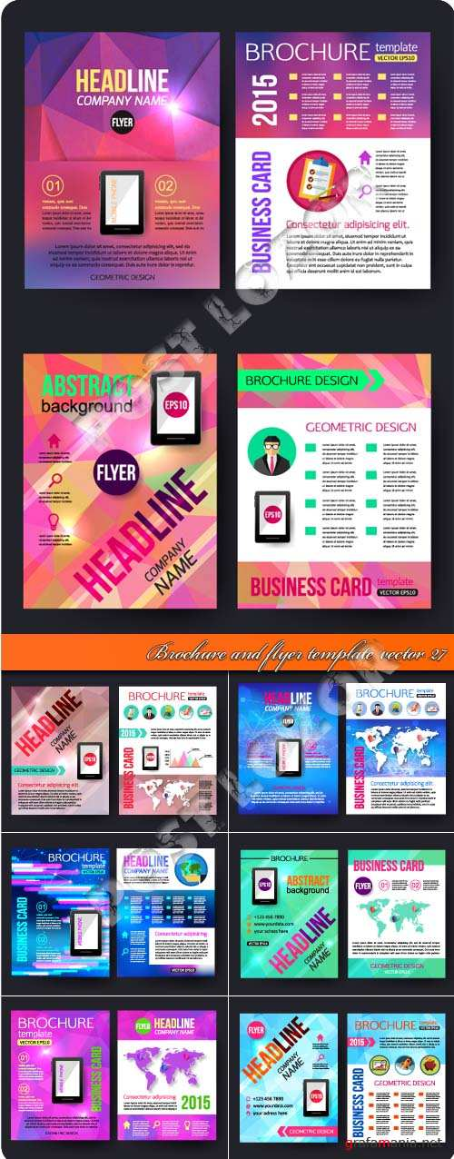 Brochure and flyer template vector 27