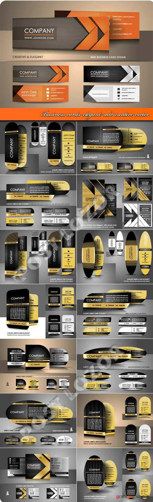 Business cards elegant and creative vector
