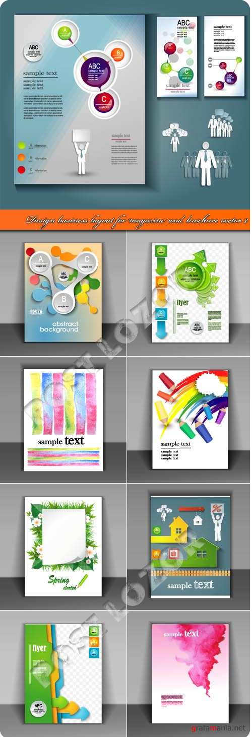 Templates flat business concept vector 14