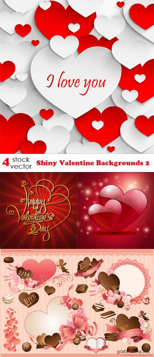 Vector - Shiny Valentine Backgrounds 2