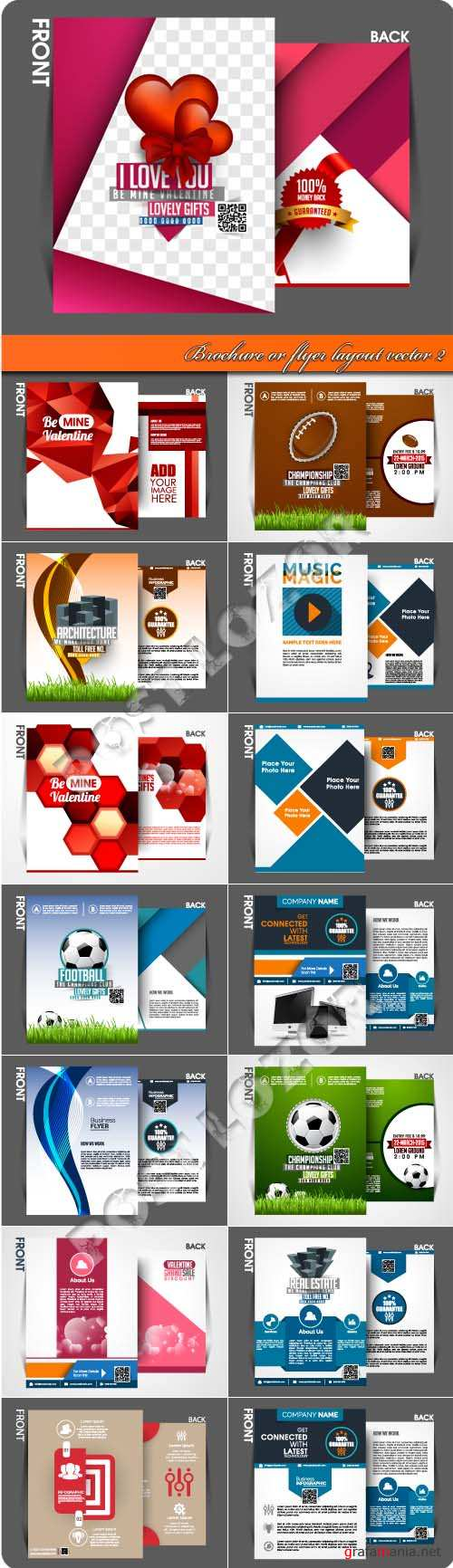 Brochure or flyer layout vector 2