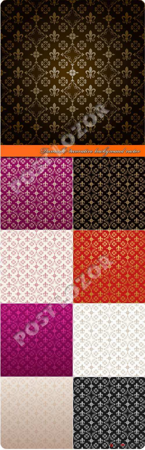 Damask decorative background vector