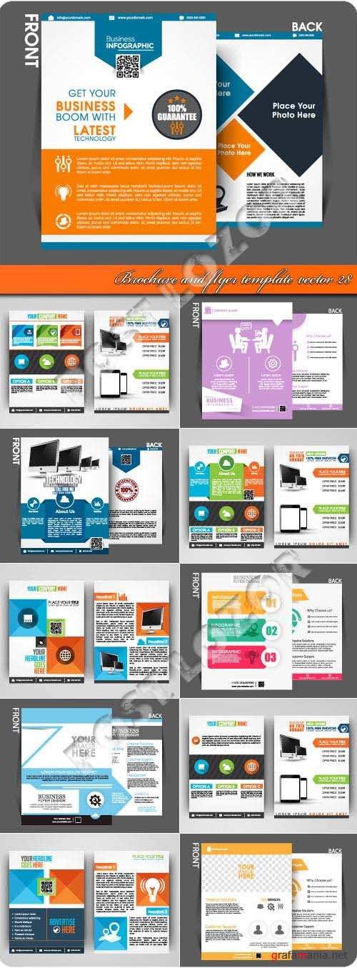 Brochure and flyer template vector 28