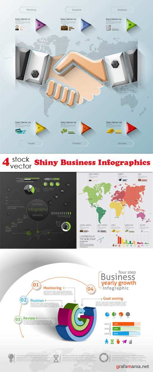 Vectors - Shiny Business Infographics