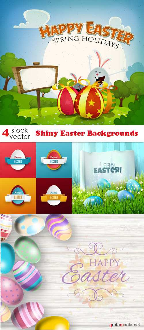 Vectors - Shiny Easter Backgrounds