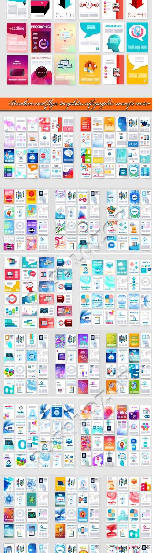 Brochure and flyer templates infographic concept vector