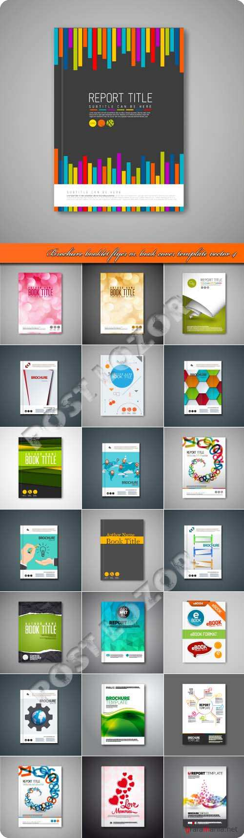 Brochure booklet flyer or book cover template vector 4