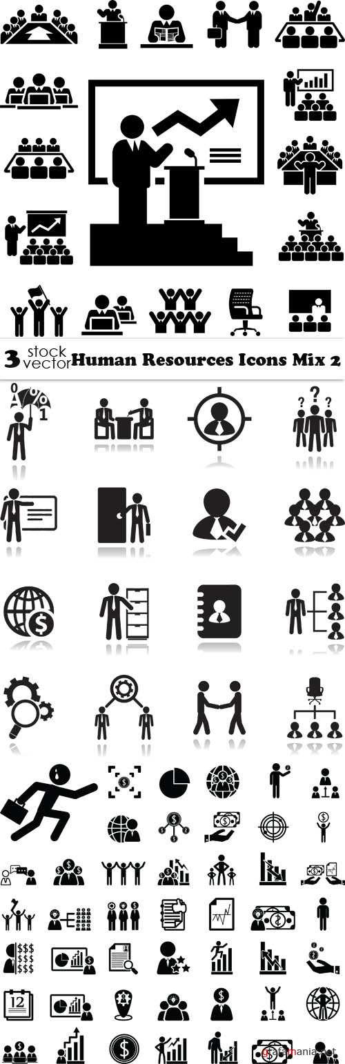 Vectors - Human Resources Icons Mix 2