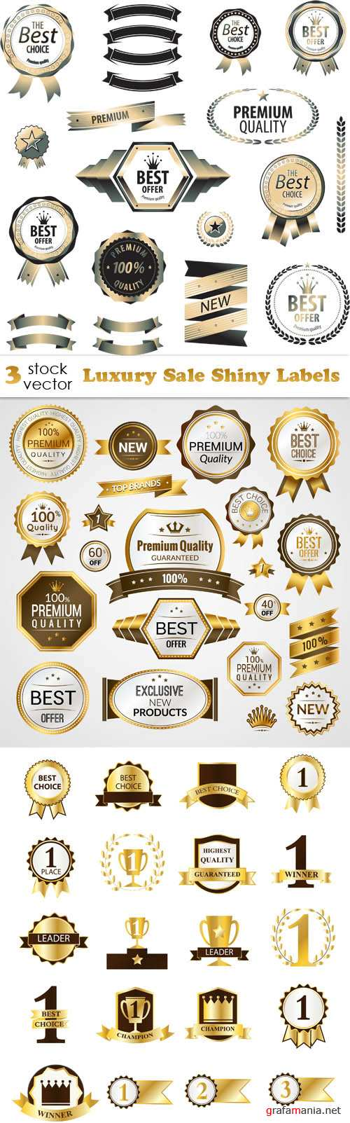 Vectors - Luxury Sale Shiny Labels