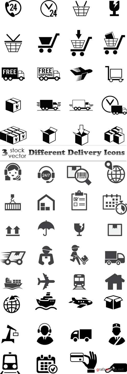 Vectors - Different Delivery Icons