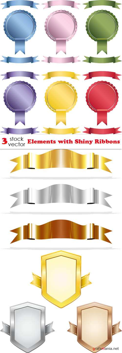 Vectors - Elements with Shiny Ribbons