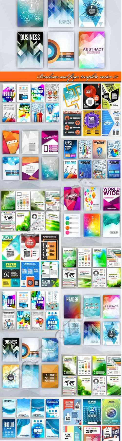Brochure and flyer template vector 35