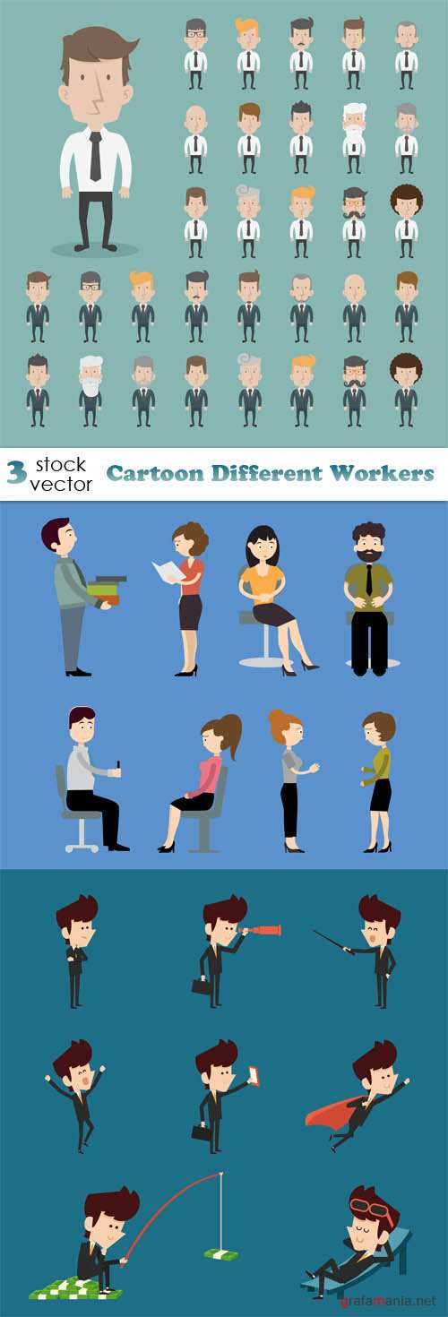 Vectors - Cartoon Different Workers