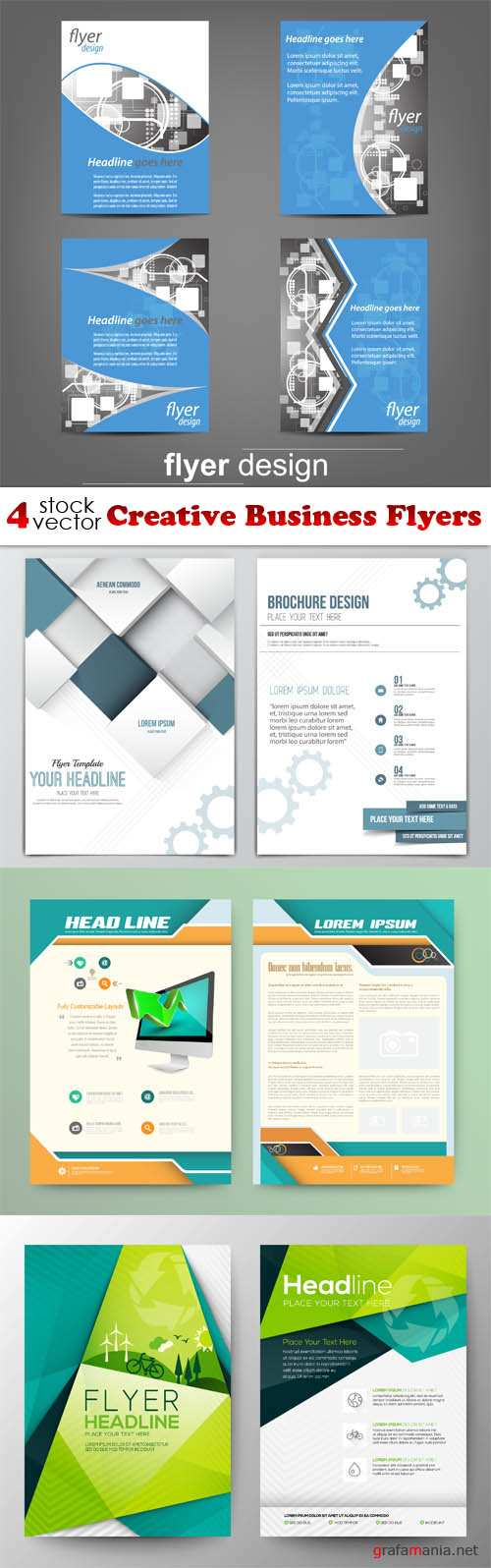 Vectors - Creative Business Flyers