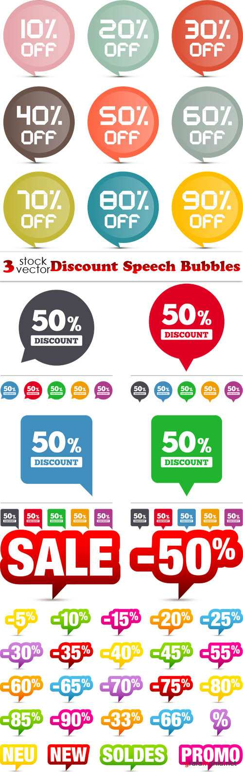 Vectors - Discount Speech Bubbles