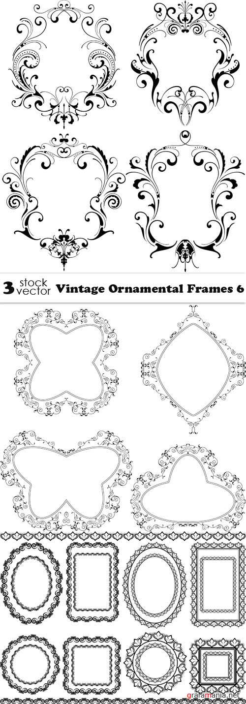 Vectors - Vintage Ornamental Frames 6