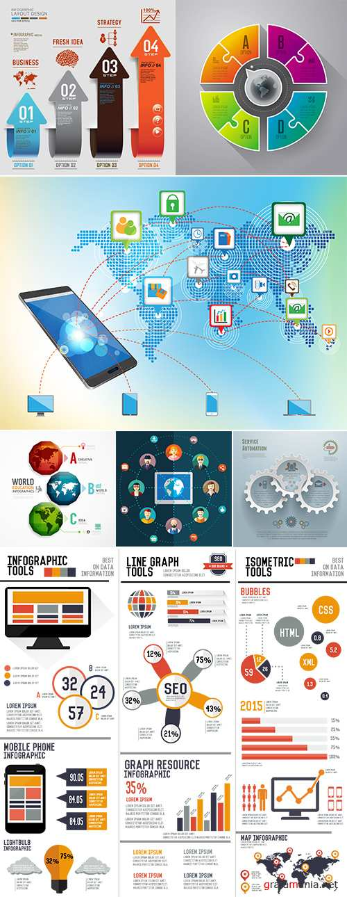Infographic map software