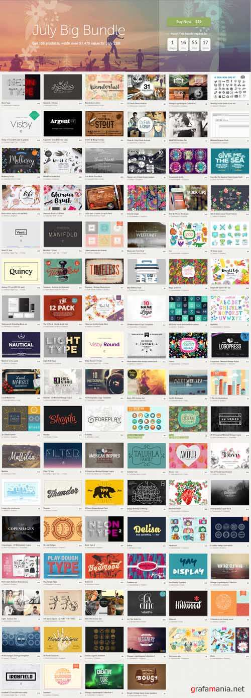 CreativeMarket - July Big Bundle